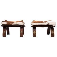 2 Camel Seats Ottomans 1960s Egypt