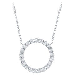 2 Carat Circle Diamond Pendant 14 Karat