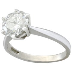 2 Carat Diamond and Platinum Solitaire Ring, 1973