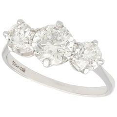 2 Carat Diamond and Platinum Trilogy Ring, circa 1940