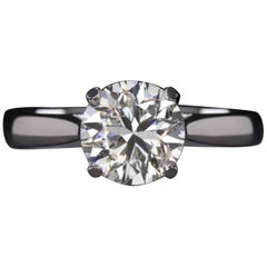 2 Carat Diamond Solitaire Platinum Ring