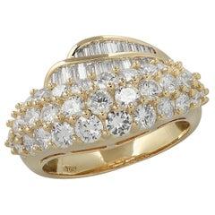 2 Carat Diamond Yellow Gold Band
