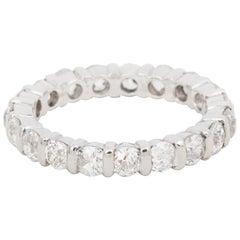 2 Carat Diamonds 18 Karat White Gold Eternity Wedding Band Ring