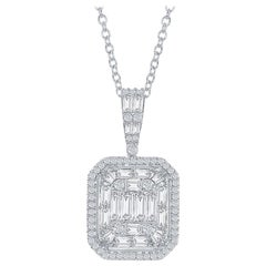 2 Carat Emerald Cut Diamond Pendant