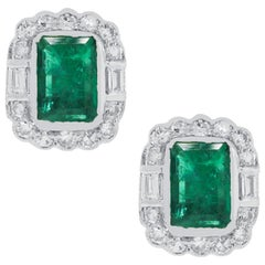 2 Carat Emerald Earrings