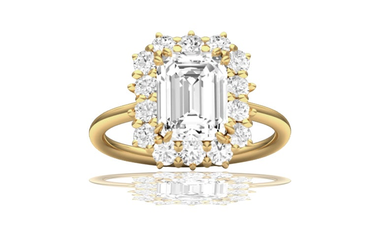Modern 2 Carat GIA Certified K-VS2 Emerald Cut Engagement Ring For Sale