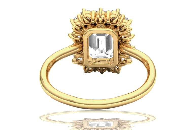 2 Carat GIA Certified K-VS2 Emerald Cut Engagement Ring In Excellent Condition For Sale In Aliso Viejo, CA