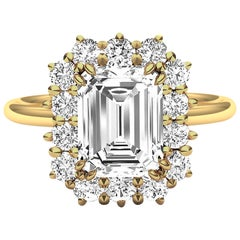 2 Carat GIA Certified K-VS2 Emerald Cut Engagement Ring