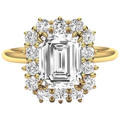 2 Carat GIA Certified K-VS2 Emerald Cut Engagement Ring