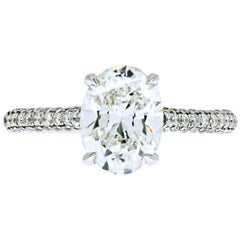 2 Carat Oval Diamond E/SI2 GIA Engagement Ring