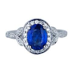 2 Carat Sapphire and Diamond Ring