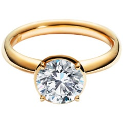 2 Carat Solitaire Traceable Diamond Ring In 18k Yellow Gold By Rocks For Life