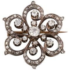2 Carat Diamonds French Antique Brooch