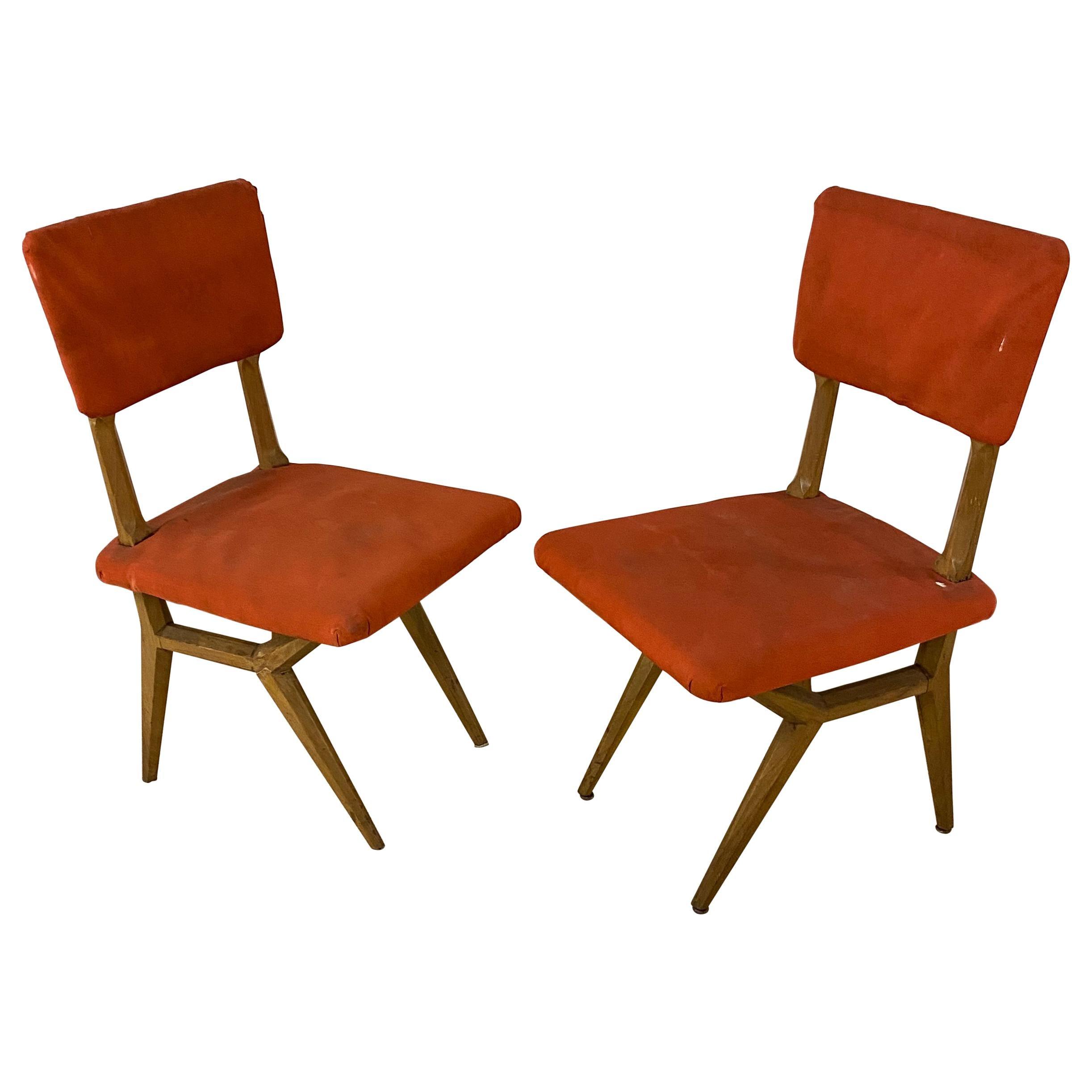 2 Chairs, Italy, circa 1950-1960