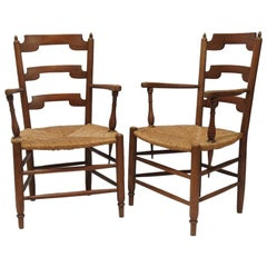 2 Cherry Neoclassic French Country Armchairs