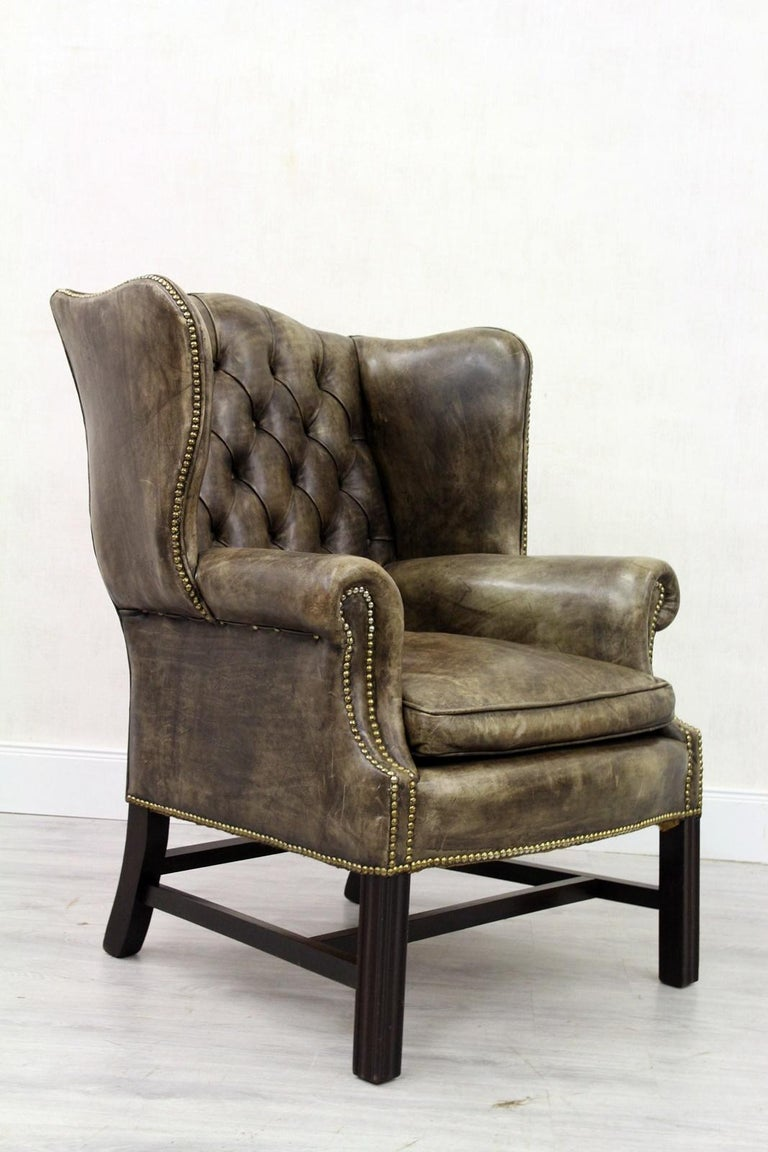 2 Chesterfield Armchair Wing Chair Antique Chair For Sale ...