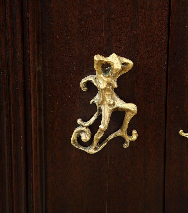 Osvaldo Borsani & Lucio Fontana Cabinet In Good Condition For Sale In New York, NY