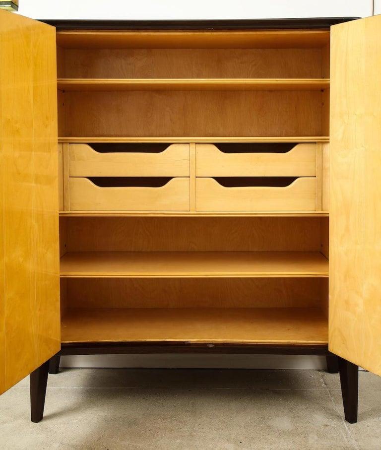 Bronze Osvaldo Borsani & Lucio Fontana Cabinet For Sale