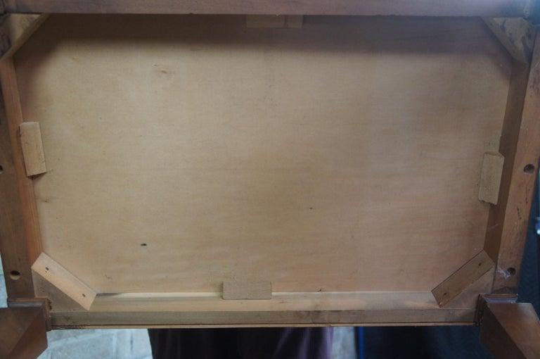 2 Drexel Heritage Movanti Mediterranean Fruitwood Nightstands Grille Doors Tray For Sale 6