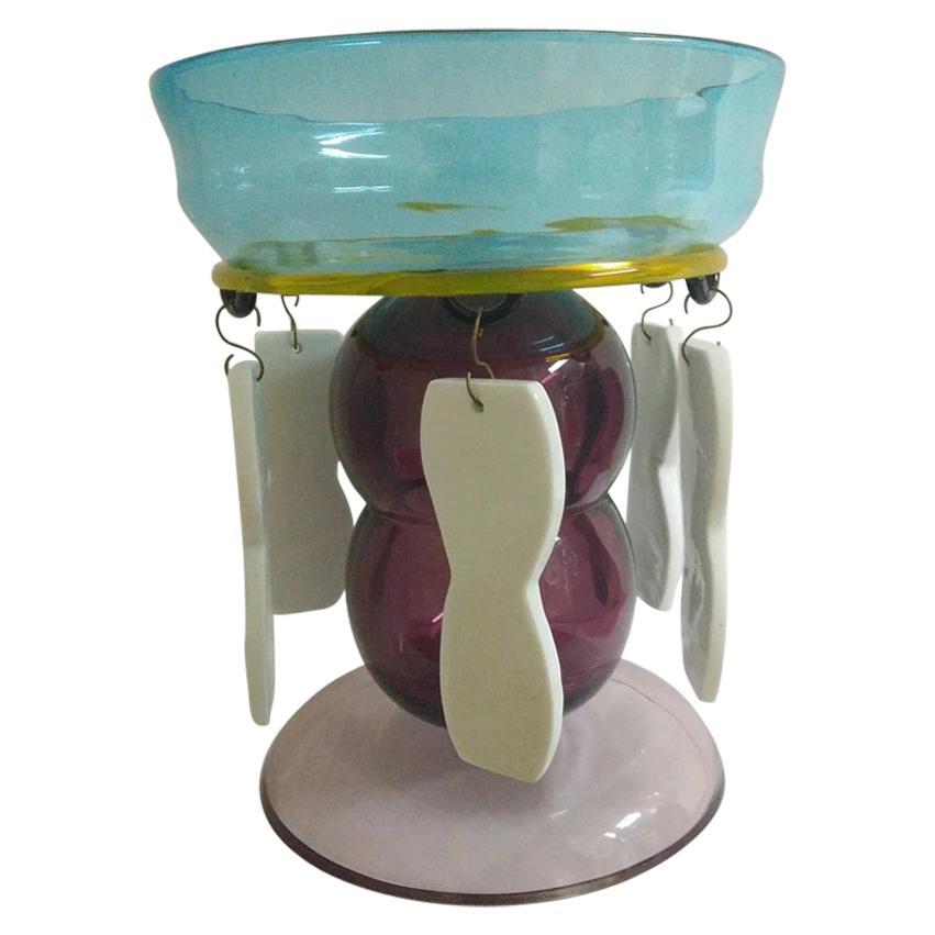 2 Fililla Glass Vase, by Ettore Sottsass from Memphis Milano