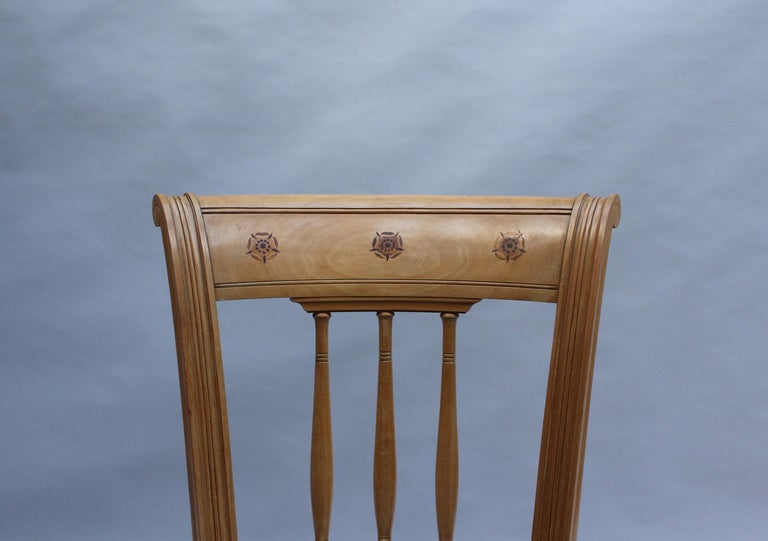 2 Fine French Art Deco Chairs by R. Damon & Bertaux For Sale 5