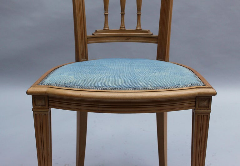 2 Fine French Art Deco Chairs by R. Damon & Bertaux For Sale 6