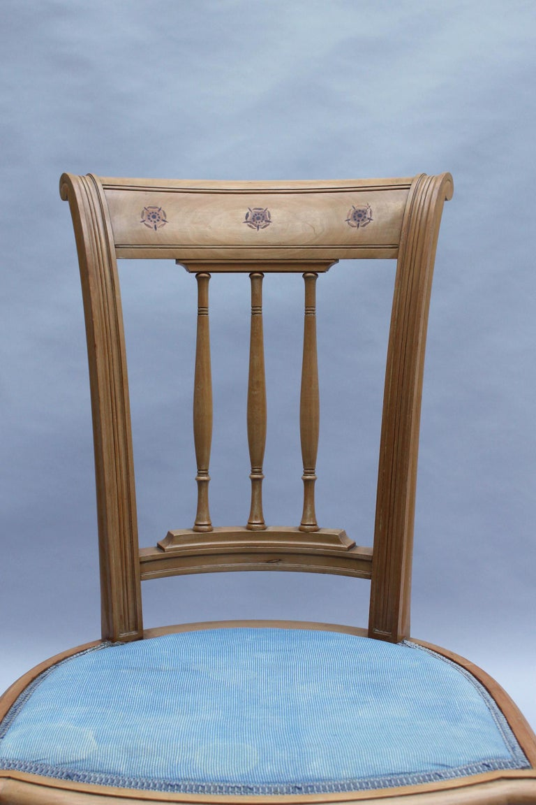 2 Fine French Art Deco Chairs by R. Damon & Bertaux For Sale 7