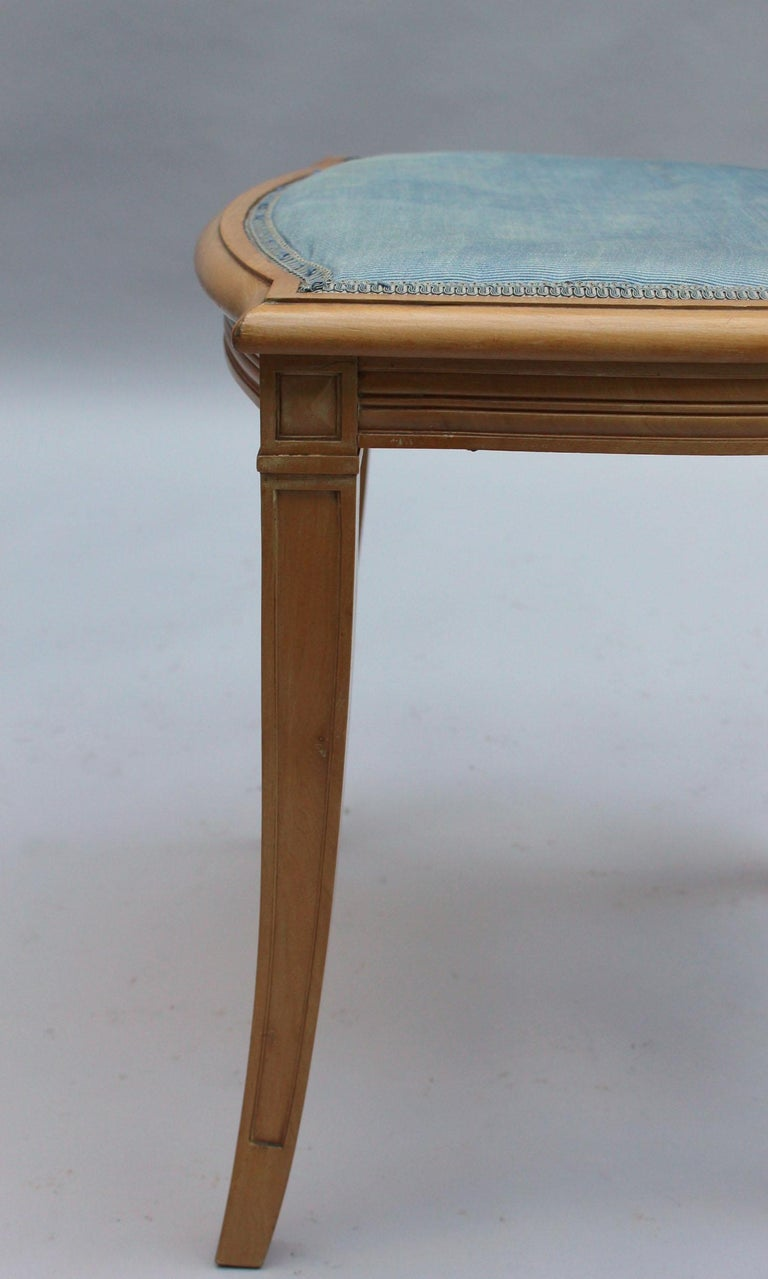 2 Fine French Art Deco Chairs by R. Damon & Bertaux For Sale 9