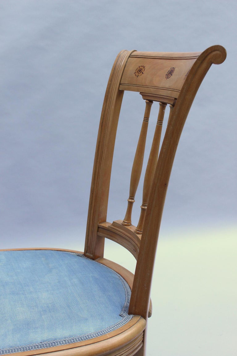 2 Fine French Art Deco Chairs by R. Damon & Bertaux For Sale 10