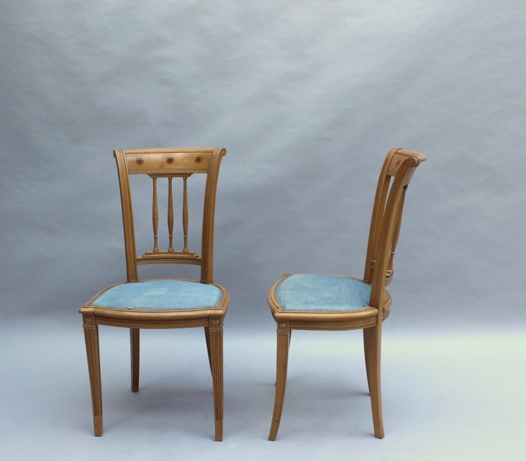 2 Fine French Art Deco Chairs by R. Damon & Bertaux In Good Condition For Sale In Long Island City, NY