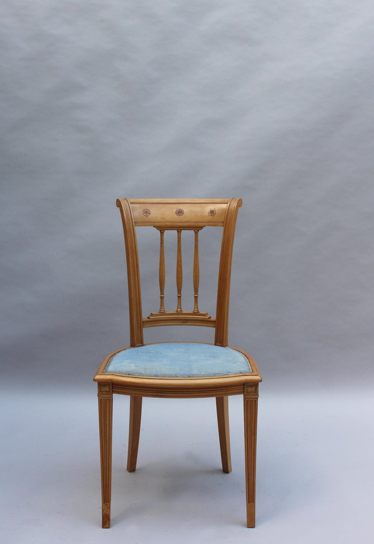 Early 20th Century 2 Fine French Art Deco Chairs by R. Damon & Bertaux For Sale