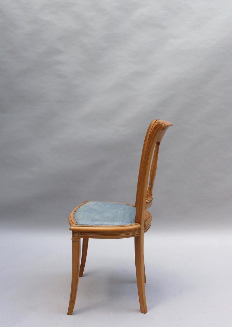 2 Fine French Art Deco Chairs by R. Damon & Bertaux For Sale 1