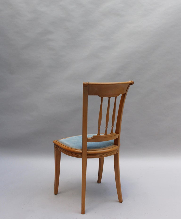 2 Fine French Art Deco Chairs by R. Damon & Bertaux For Sale 2