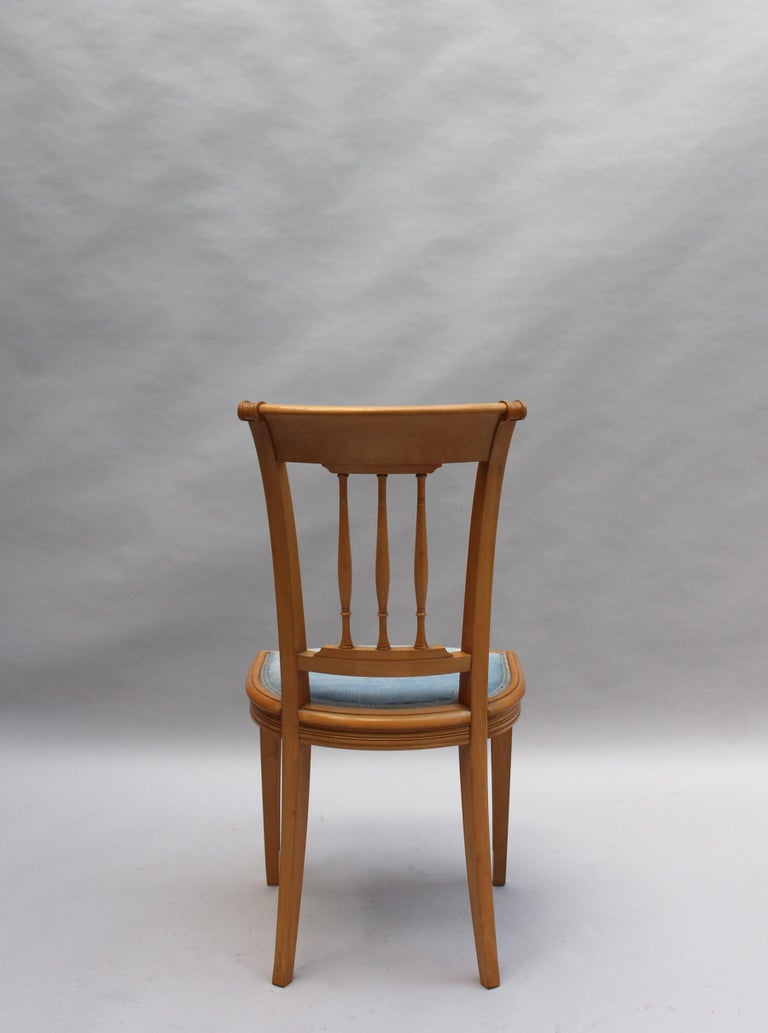 2 Fine French Art Deco Chairs by R. Damon & Bertaux For Sale 3