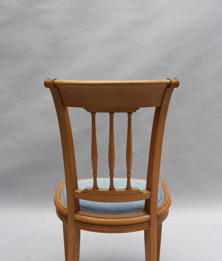2 Fine French Art Deco Chairs by R. Damon & Bertaux For Sale 4