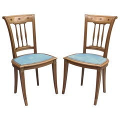 2 Fine French Art Deco Chairs by R. Damon & Bertaux