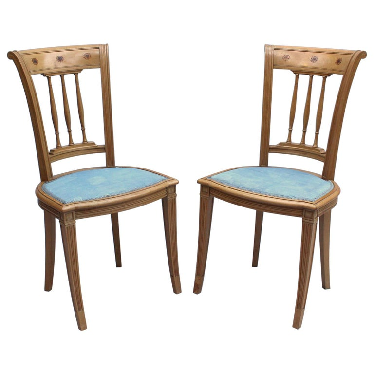 2 Fine French Art Deco Chairs by R. Damon & Bertaux For Sale