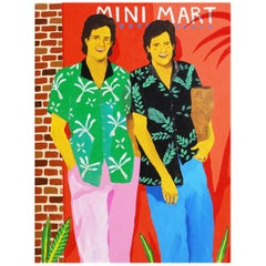 '2 For 1 Down At The Mini Mart' Portrait Painting by Alan Fears Pop Art