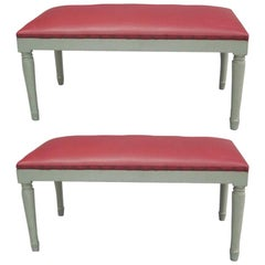 2 French Modern Neoclassical Benches in the Manner of Andre Arbus
