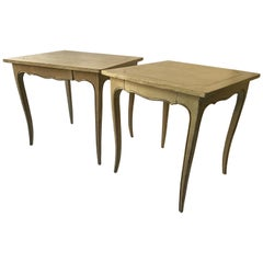 2 French Style Painted End Tables