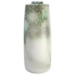 KH Würtz Giant Snub Nose Bottle Floor Vase in Green Glaze