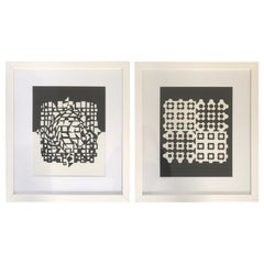 2 Heliogravures by Victor Vasarely, Éditions Du Griffon