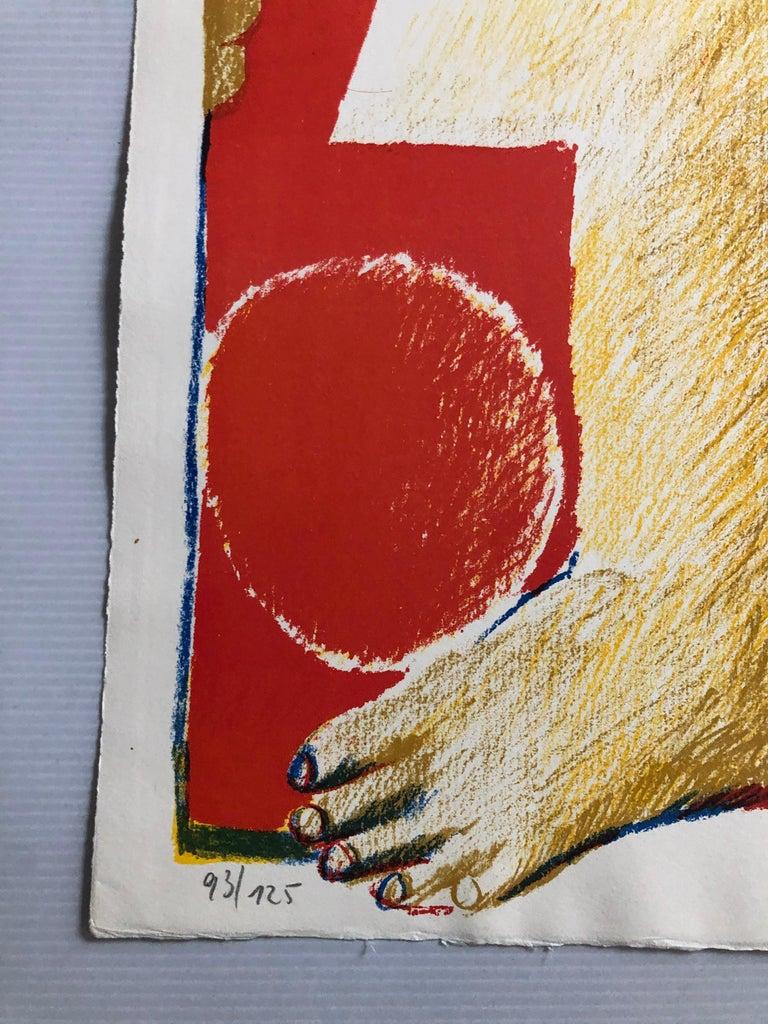 2 Horst Antes Color Lithographs, circa 1968 For Sale 4