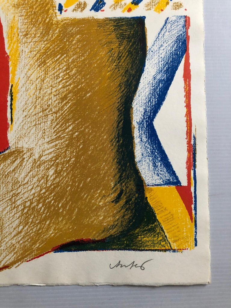 2 Horst Antes Color Lithographs, circa 1968 For Sale 5