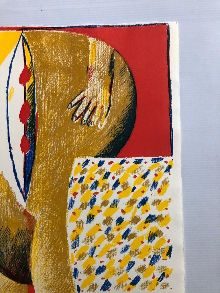 2 Horst Antes Color Lithographs, circa 1968 For Sale 7