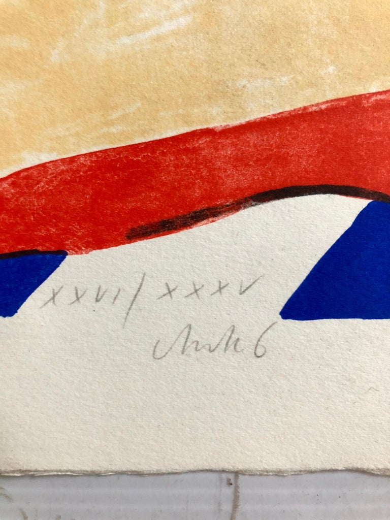 2 Horst Antes Color Lithographs, circa 1968 In Good Condition For Sale In Hudson, NY