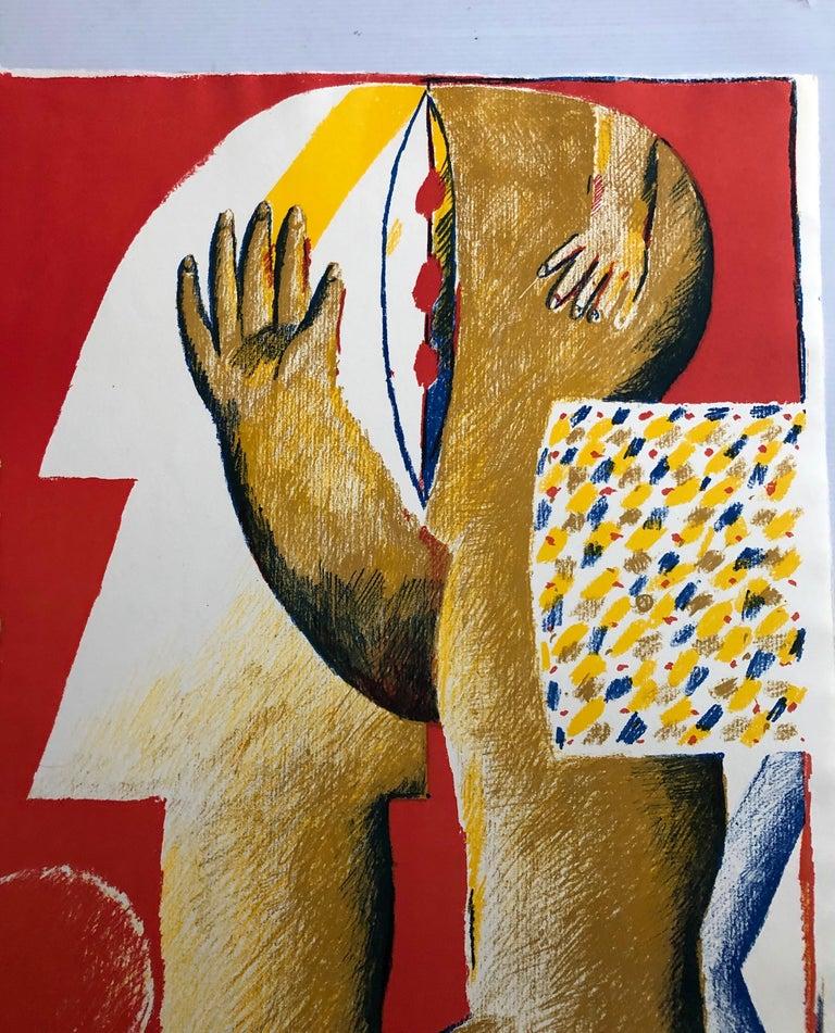 2 Horst Antes Color Lithographs, circa 1968 For Sale 1
