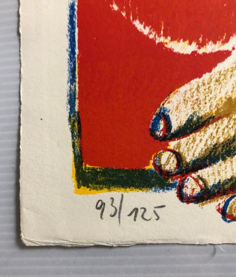 2 Horst Antes Color Lithographs, circa 1968 For Sale 2