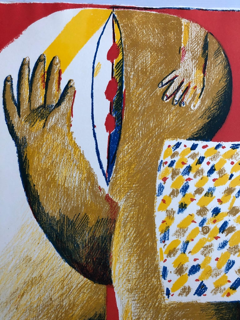 2 Horst Antes Color Lithographs, circa 1968 For Sale 3
