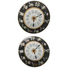 2 Italian Fornasetti Signed and Numbered Porcelain Plato Calendario Plates
